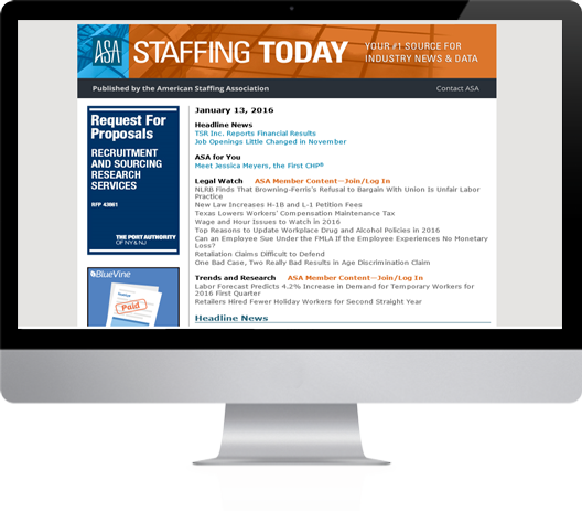 Staffing Today Daily Newsletter