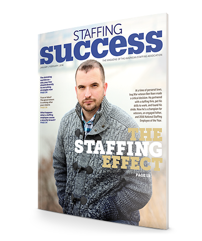 Ben Keen, 2016 Natinoal Staffing Employee of the Year