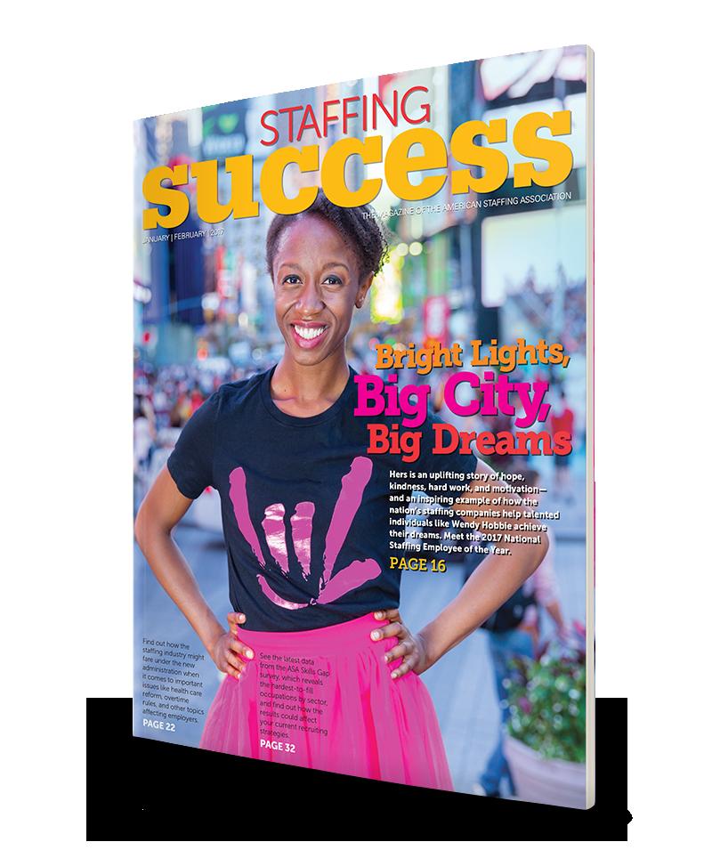 Wendy Hobbie, 2017 Natinoal Staffing Employee of the Year
