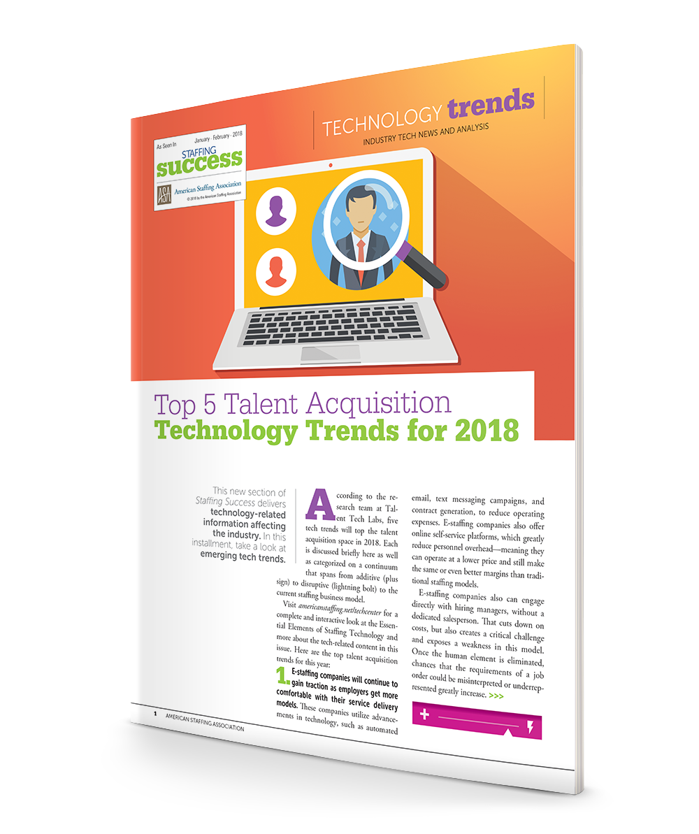 Top 5 Talent Acquisition Technology Trends for 2018