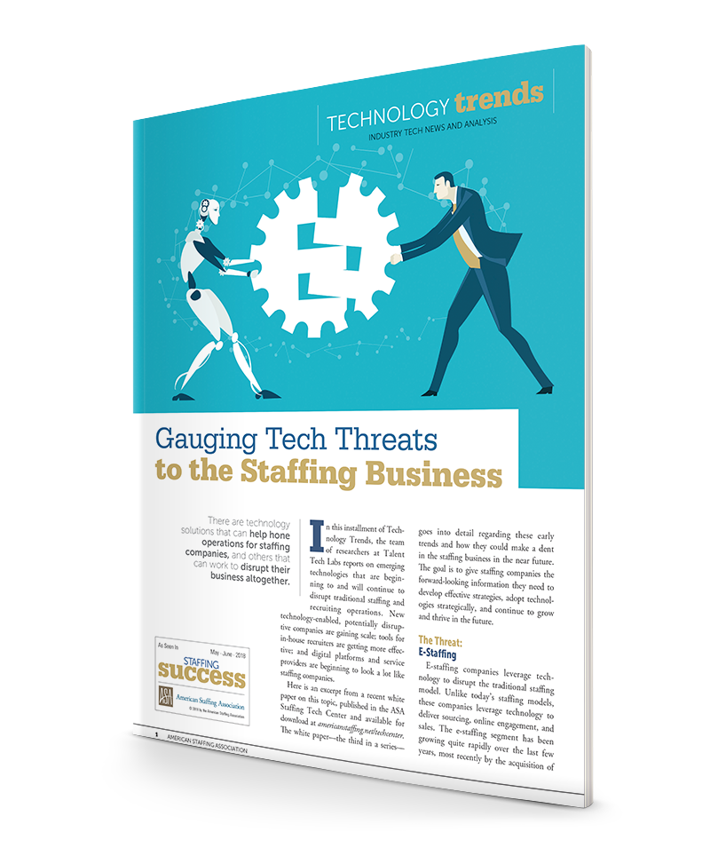 Gauging Tech Threats to the Staffing Business