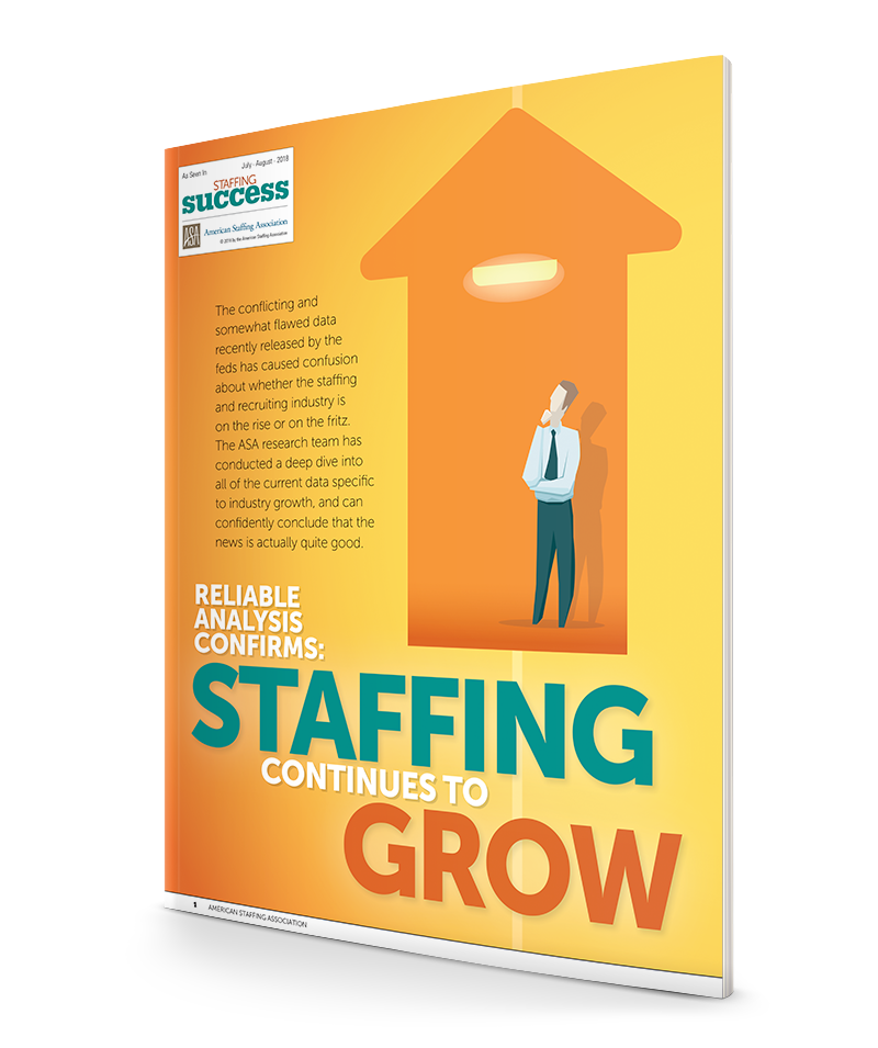 Reliable Analysis Confirms: Staffing Continues to Grow